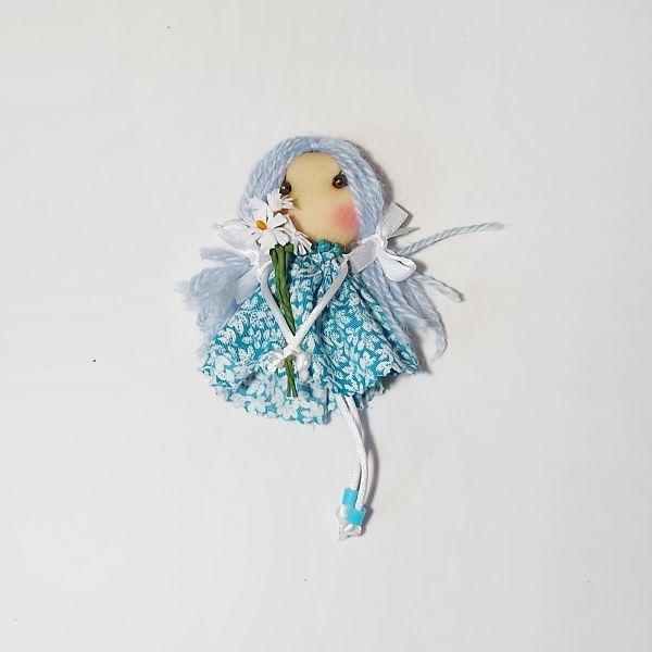 Broche muñeca soft azul UN BAÚL DE PRINCESAS