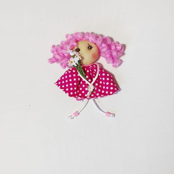 Broche muñeca soft morada un baúl de princesas tesoros para princesas