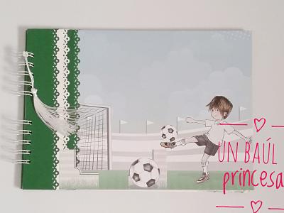 Libro firmas comunión niño fútbol