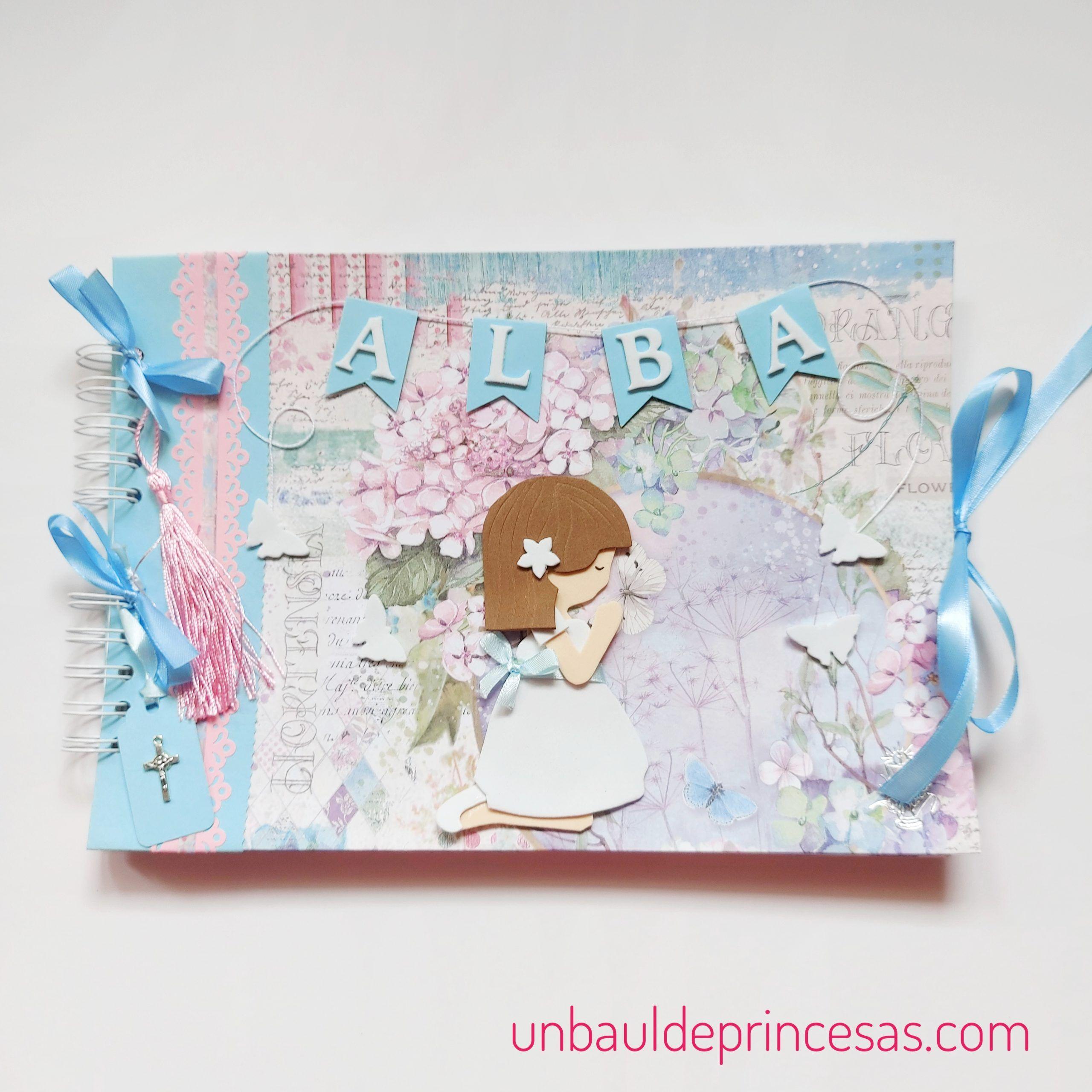 Libro de firmas de comunión de niña un baúl de princesas