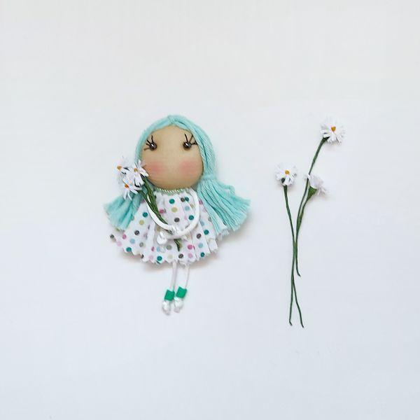 Broche muñeca marina